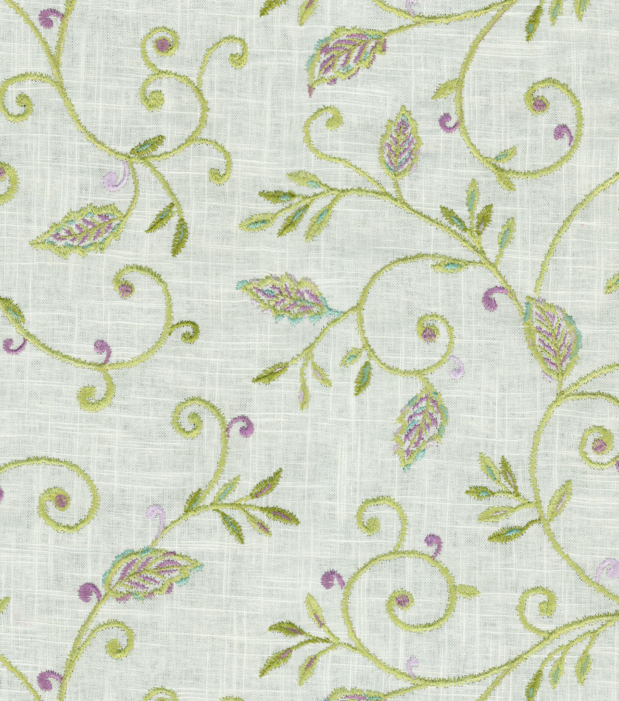 "Dena Home Upholstery Fabric 56""-Kalia Embroidery/Heather"