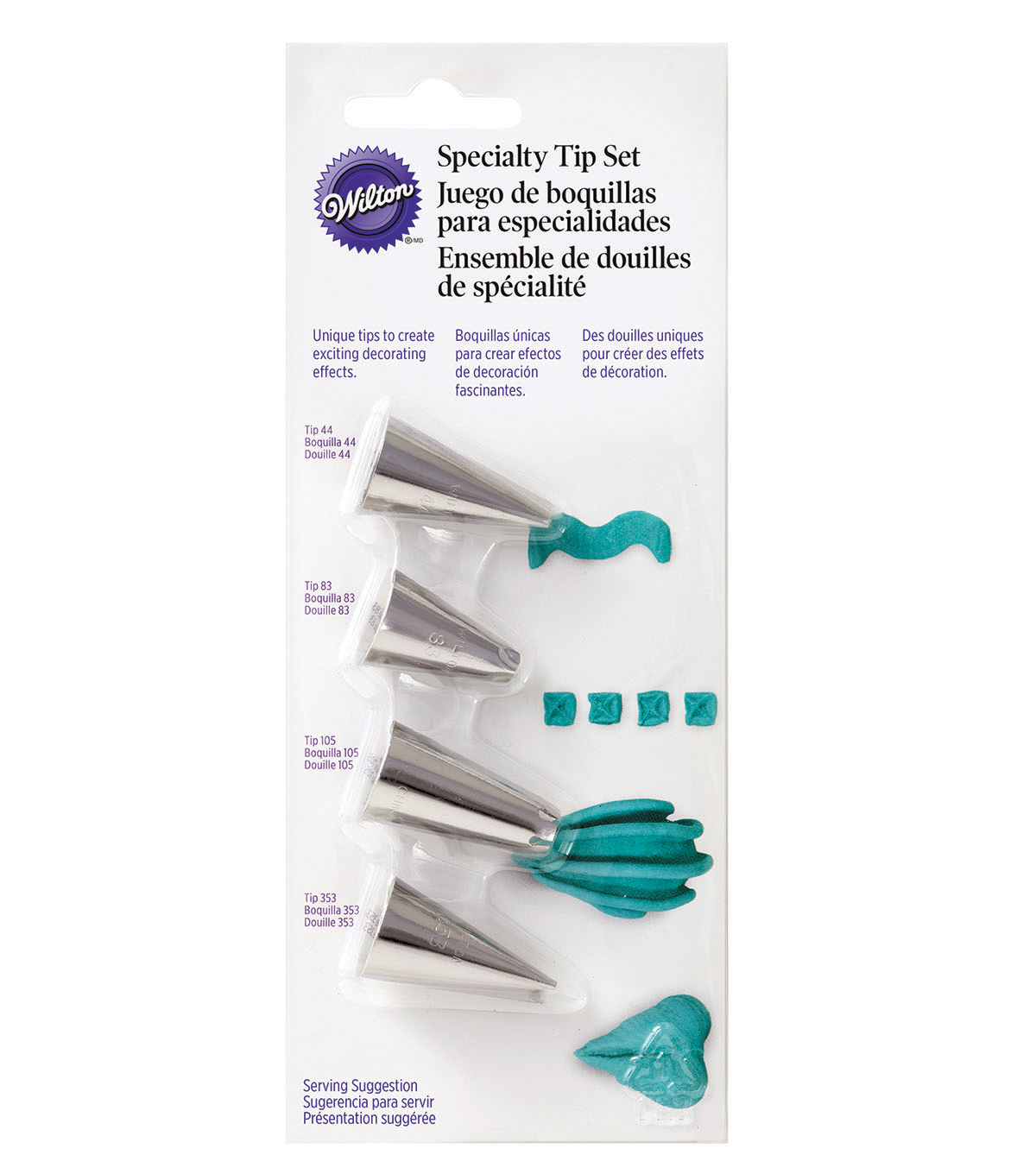 Wilton® 4pc Specialty Decorating Tip Set
