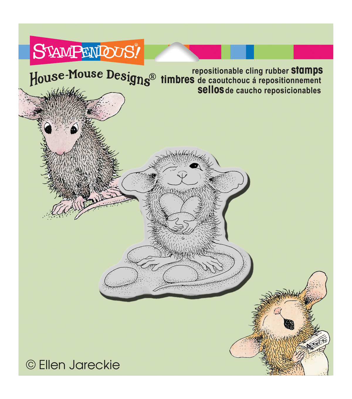 Stampendous® House Mouse Cling Stamp-Jelly Bean Thief