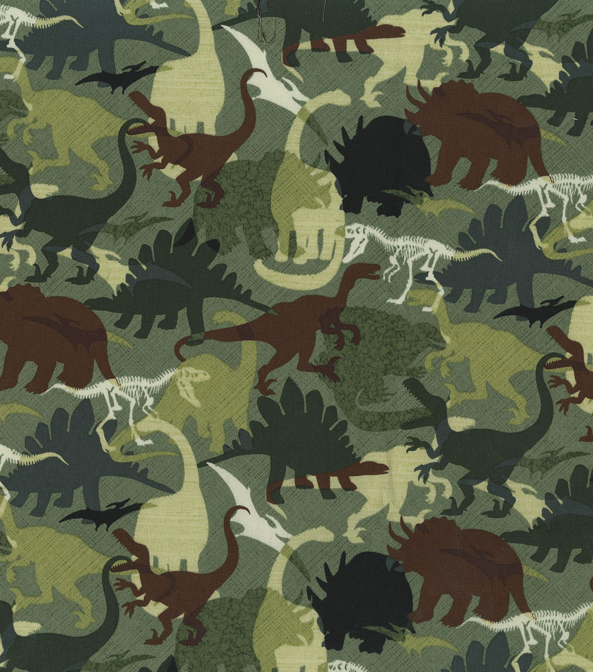 Novelty Cotton Fabric 44''-Camo Dinos