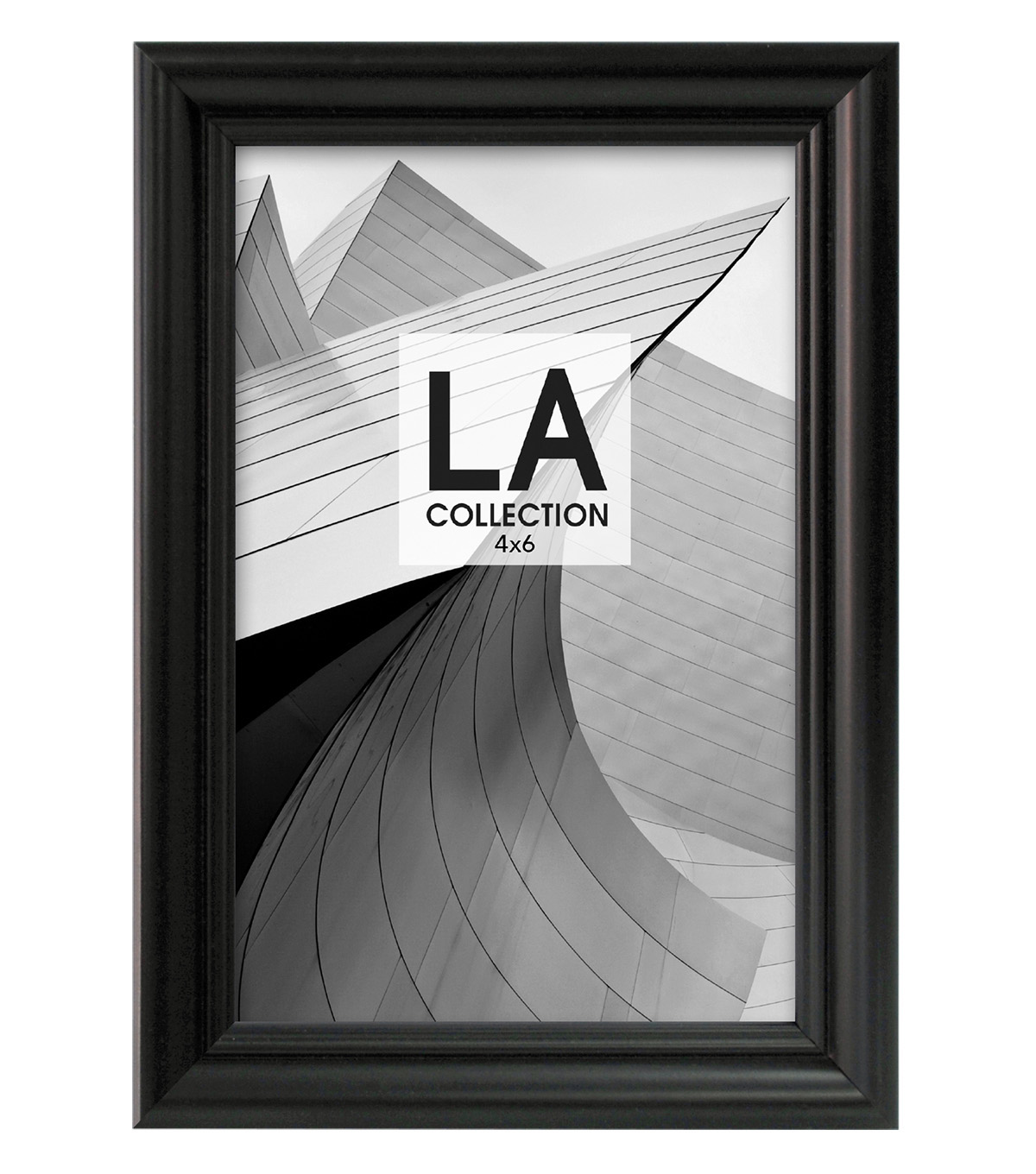 LA Collection Traditional Tabletop Frame 4x6-Black