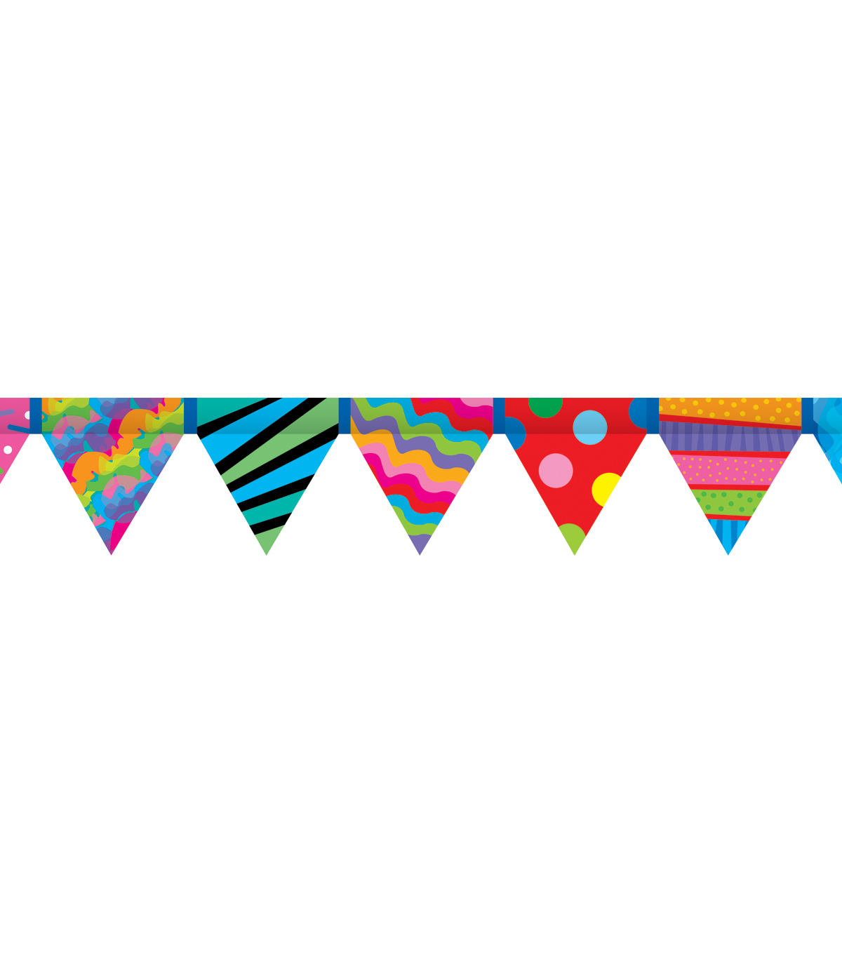 Poppin Patterns: Pennant Border