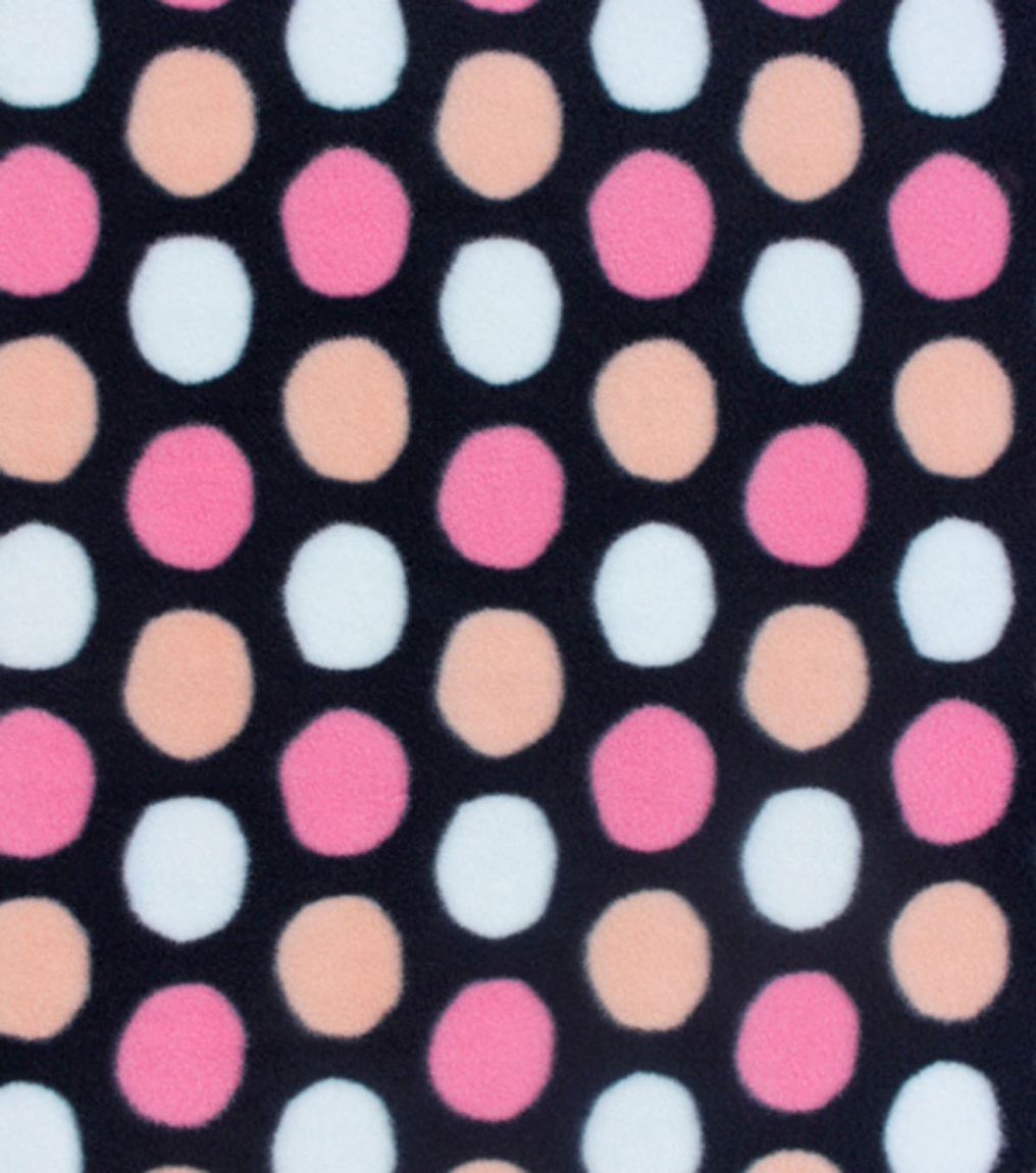Anti-Pill Fleece Fabric 59\u0022-Strawberry Pink Dots