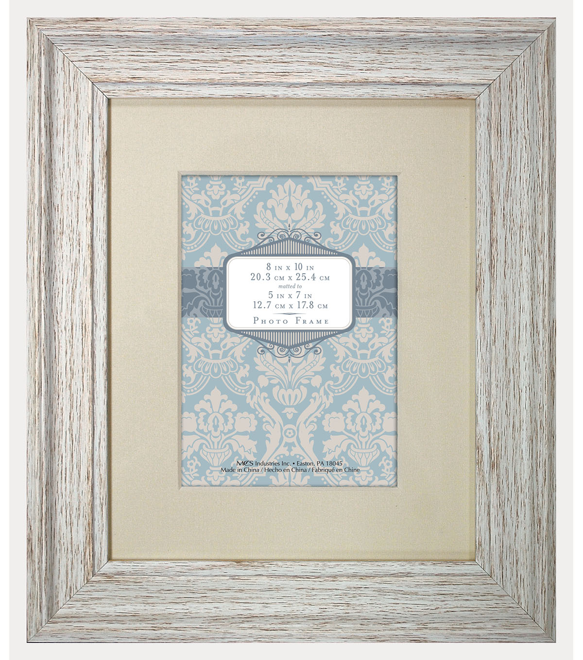 Tabletop Frame 8X10 To 5X7-Distressed Cream