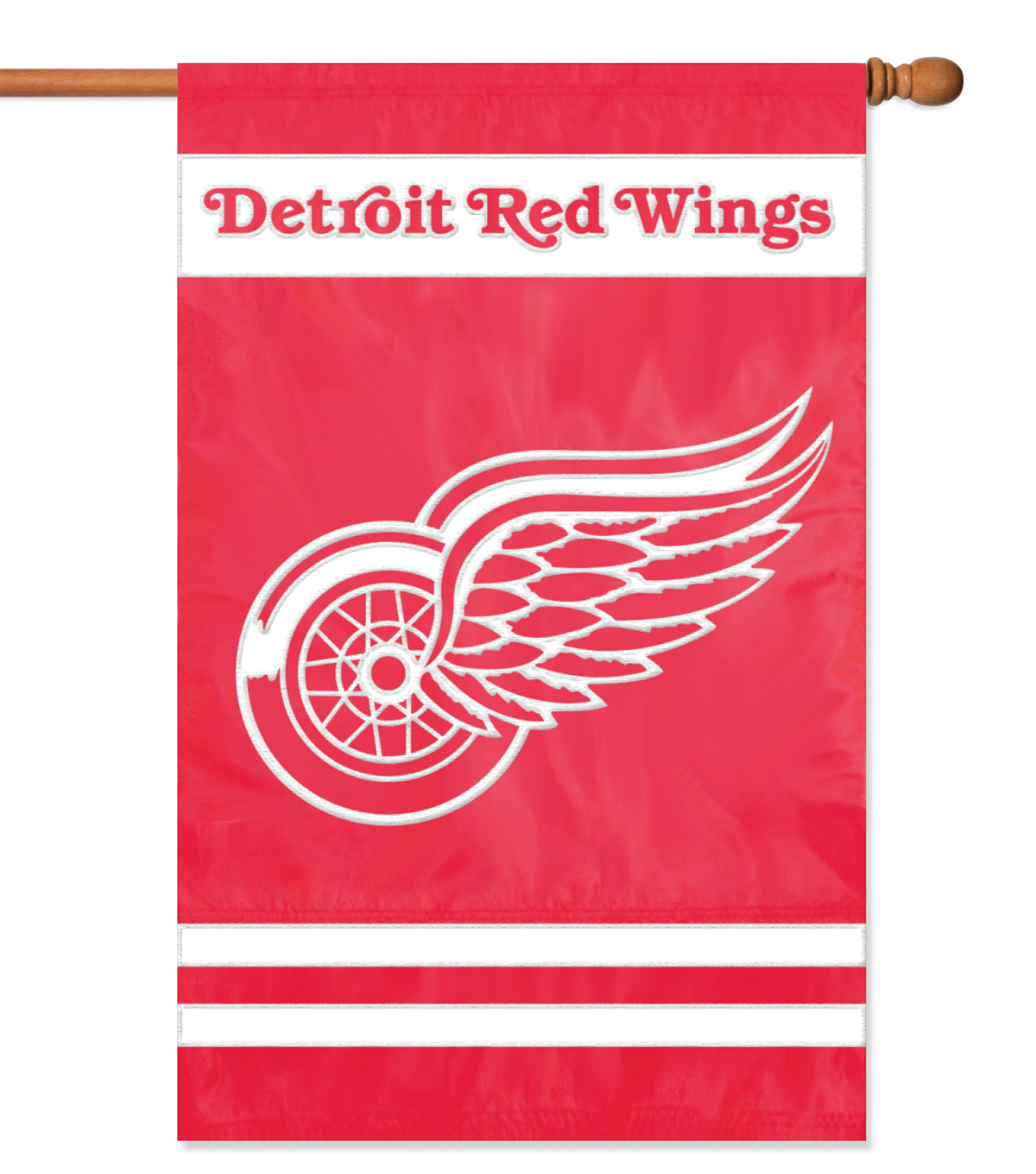 Detroit Red Wings Applique Banner Flag