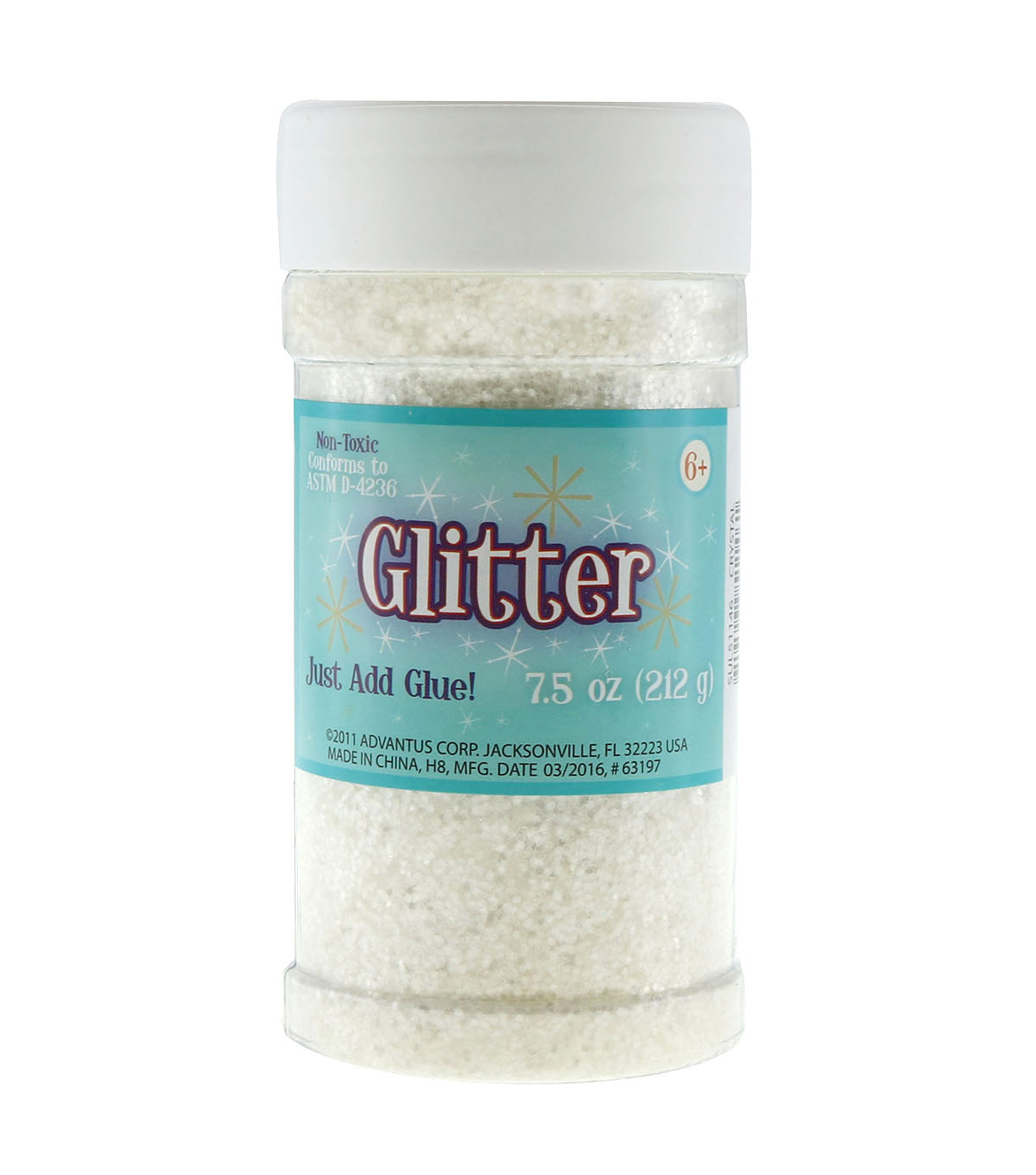 Craft Essentials Glitter-6.5 oz./Crystal