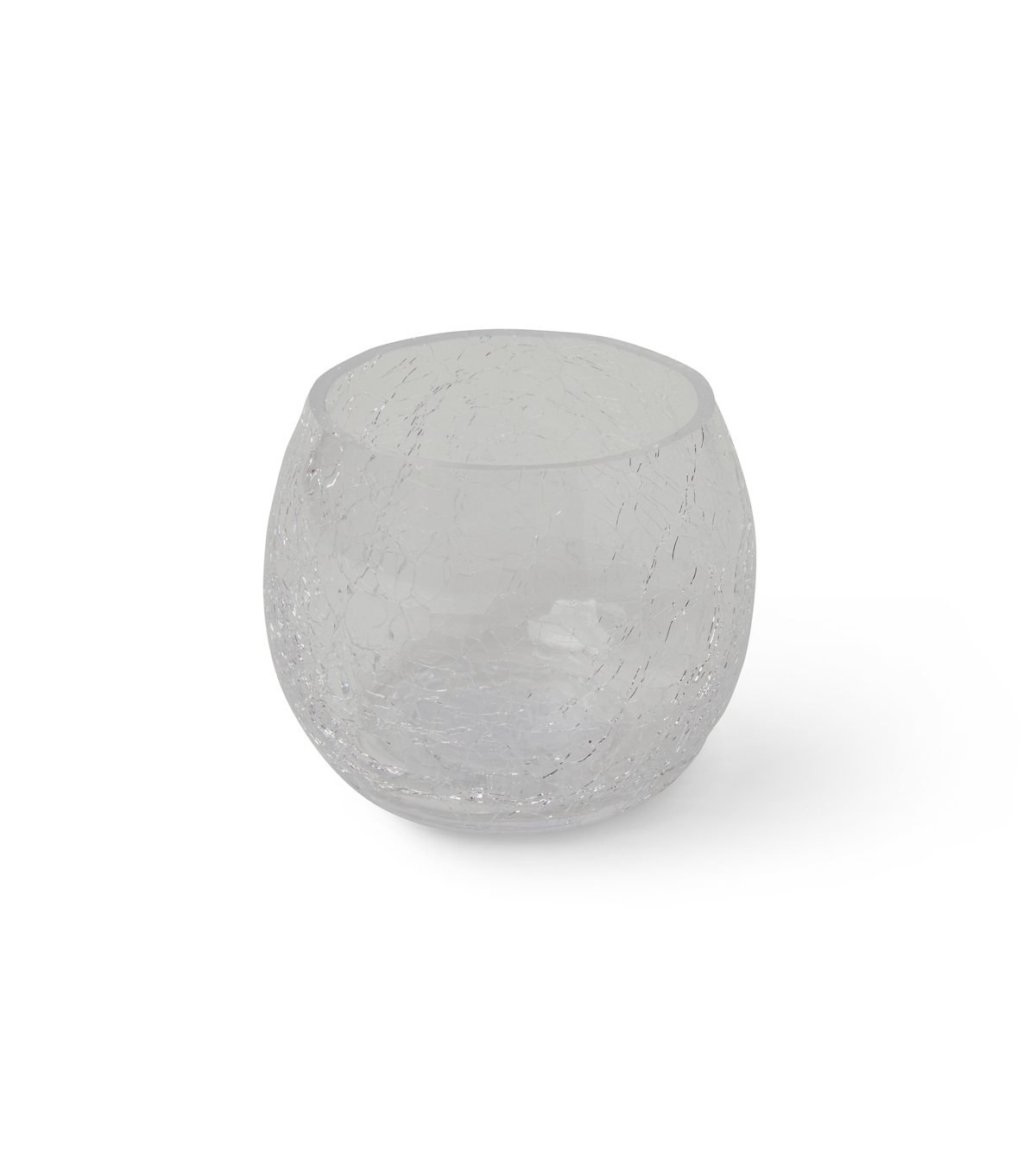 Hudson 43™ Candle&Light Collection Round Crackle Glass Candle Holder