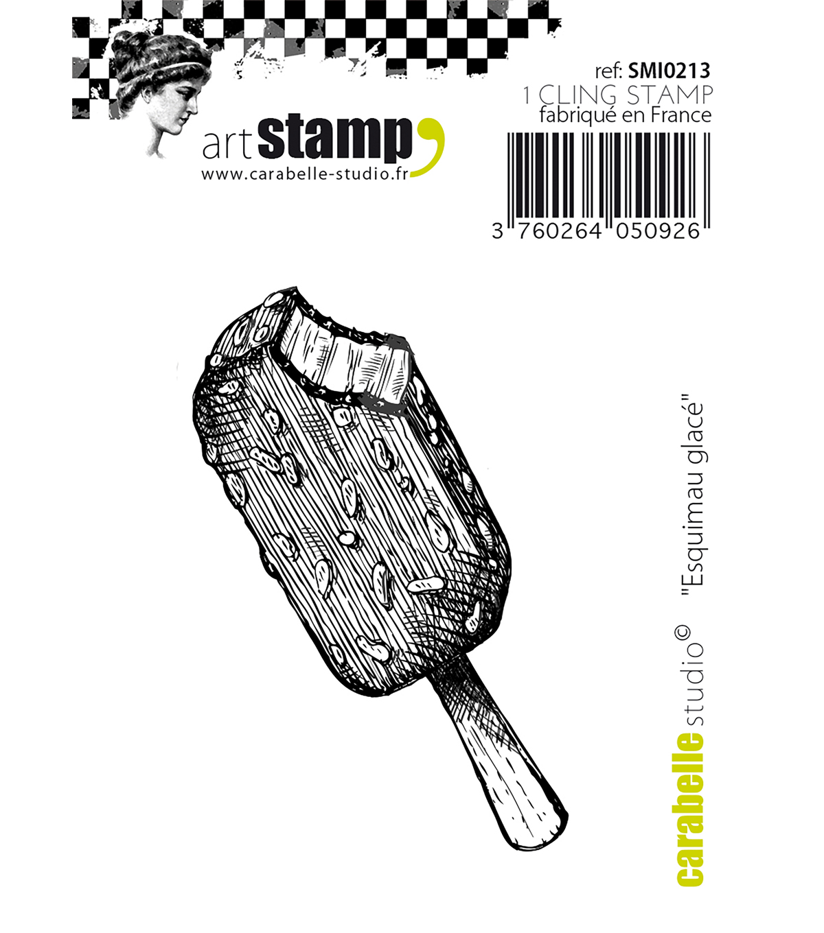 Carabelle Studio Cling Stamp Small 2.56\u0022X1.18\u0022-Ice Cream Treat