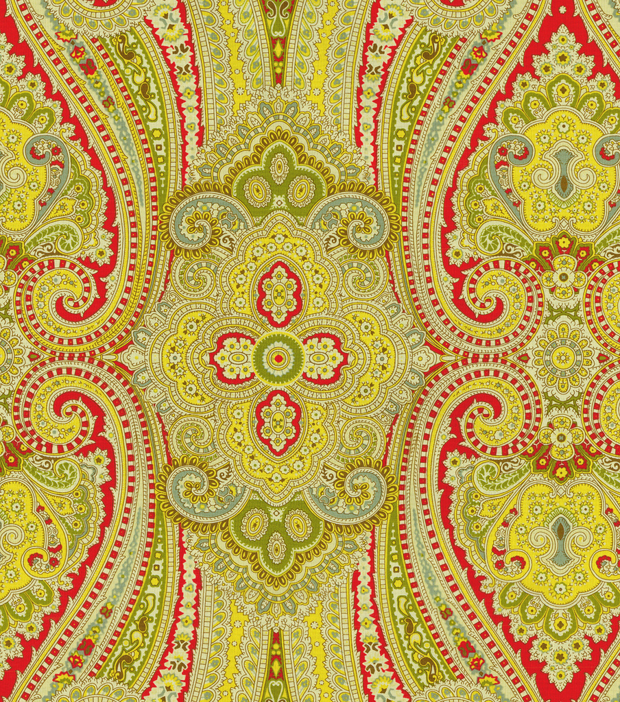 Waverly Paisley Pizzazz Upholstery Fabric 54\u0022-Honeysuckle