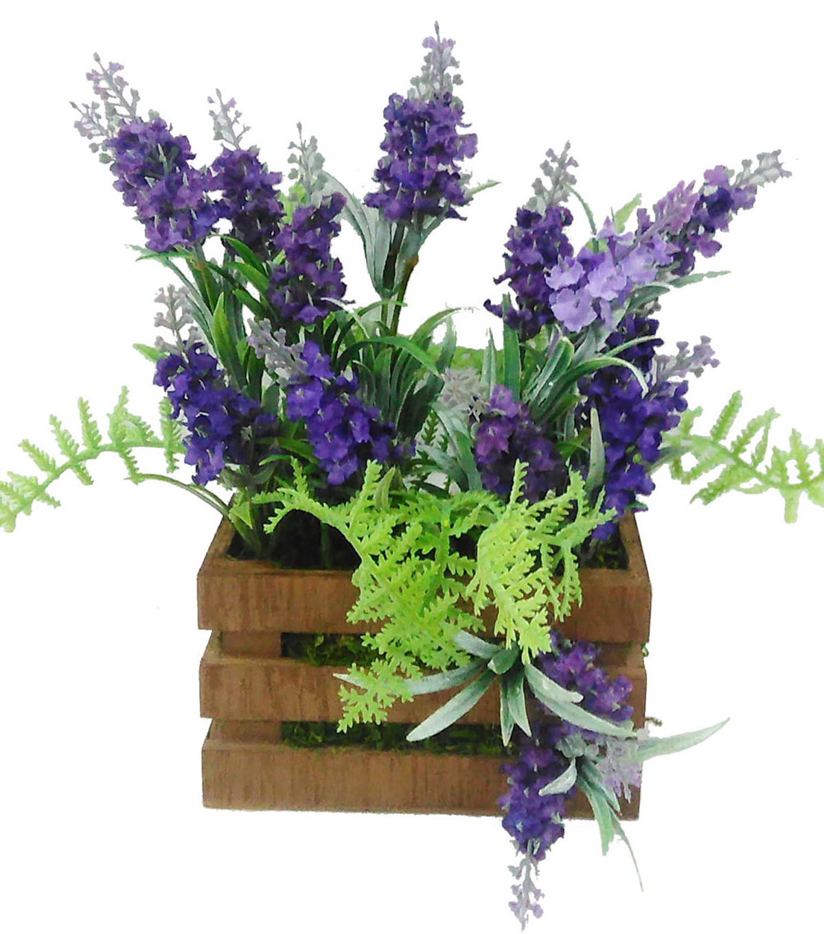 Blooming Spring 12\u0027\u0027 Lavender In Crate with Moss