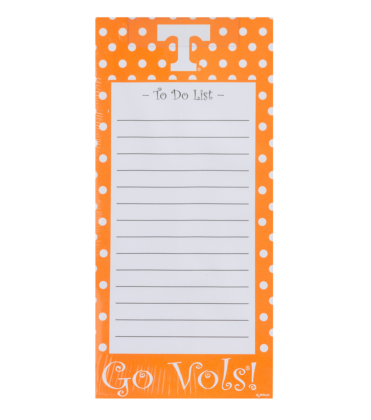 University of Tennessee Volunteers To-Do List
