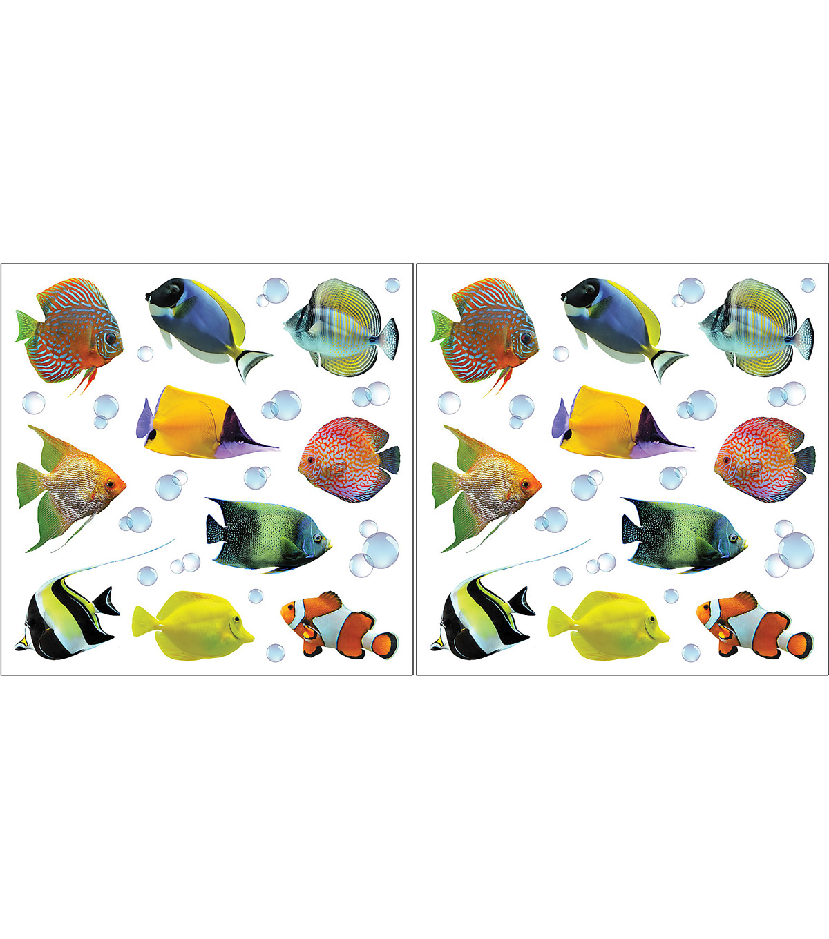 Home Decor Fish Wall Stickers, 24 Piece Set