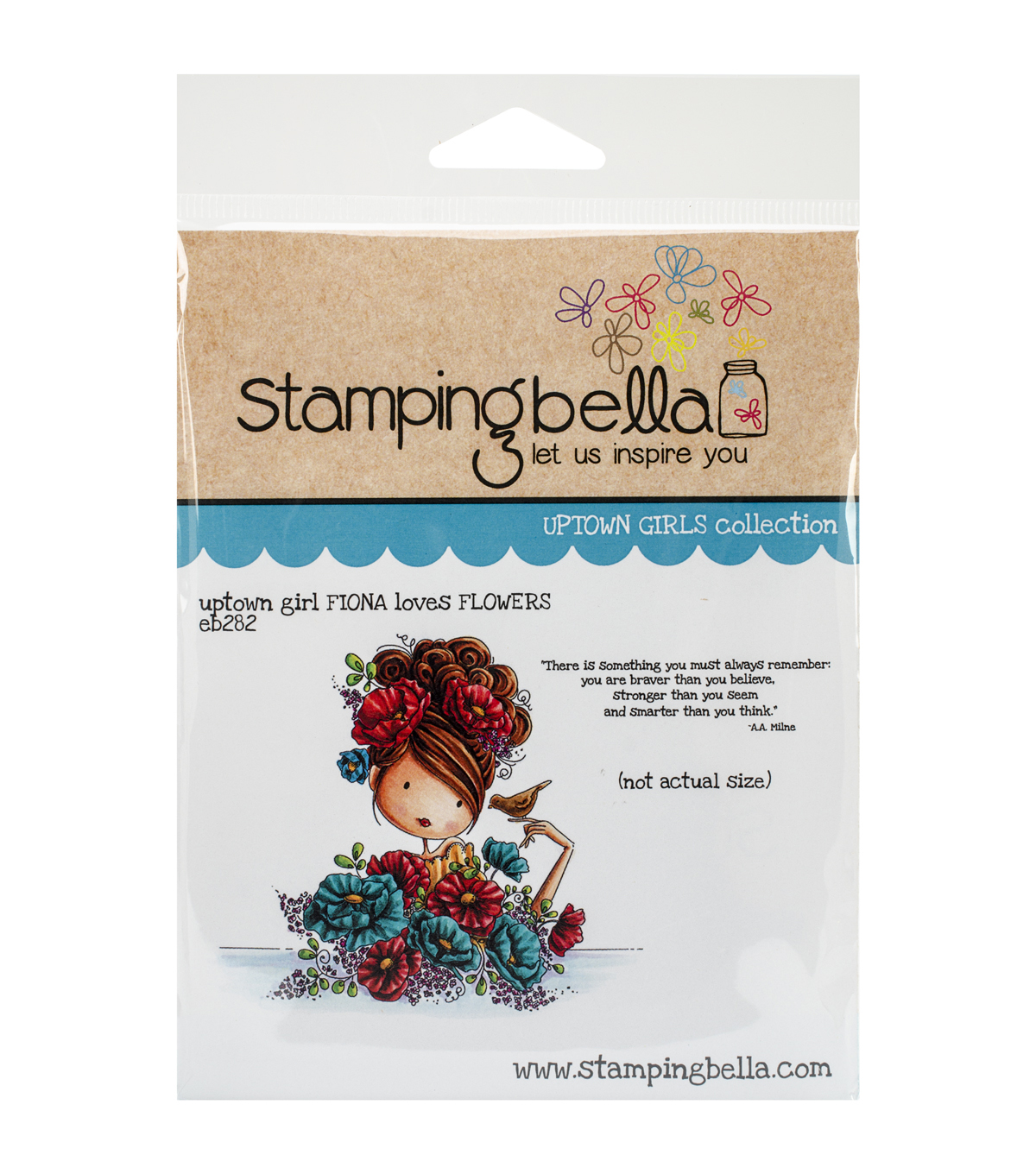 Stamping Bella Uptown Girl Fiona Loves Flowers Cling Rubber Stamp
