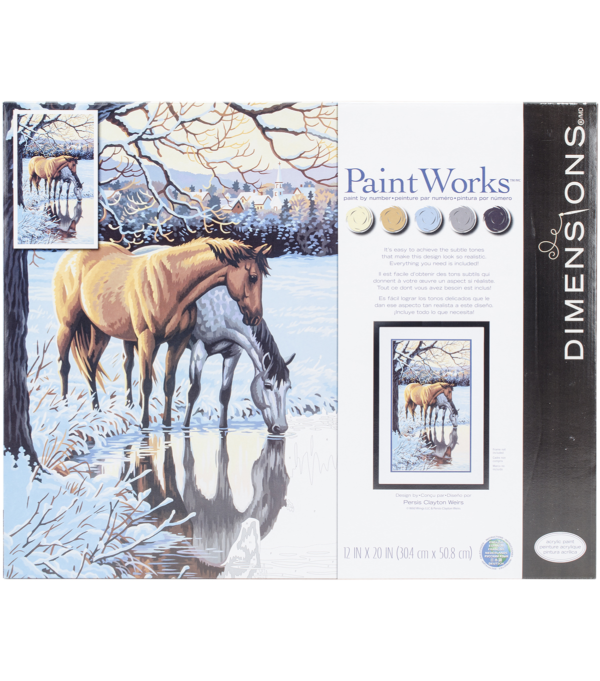 Dimensions® Paint Works Paint By Number Kit-Reflections