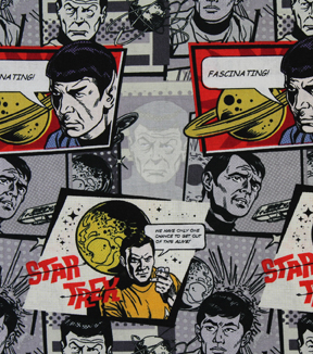 "Star Trek™ Cotton Fabric 44""-Comic"
