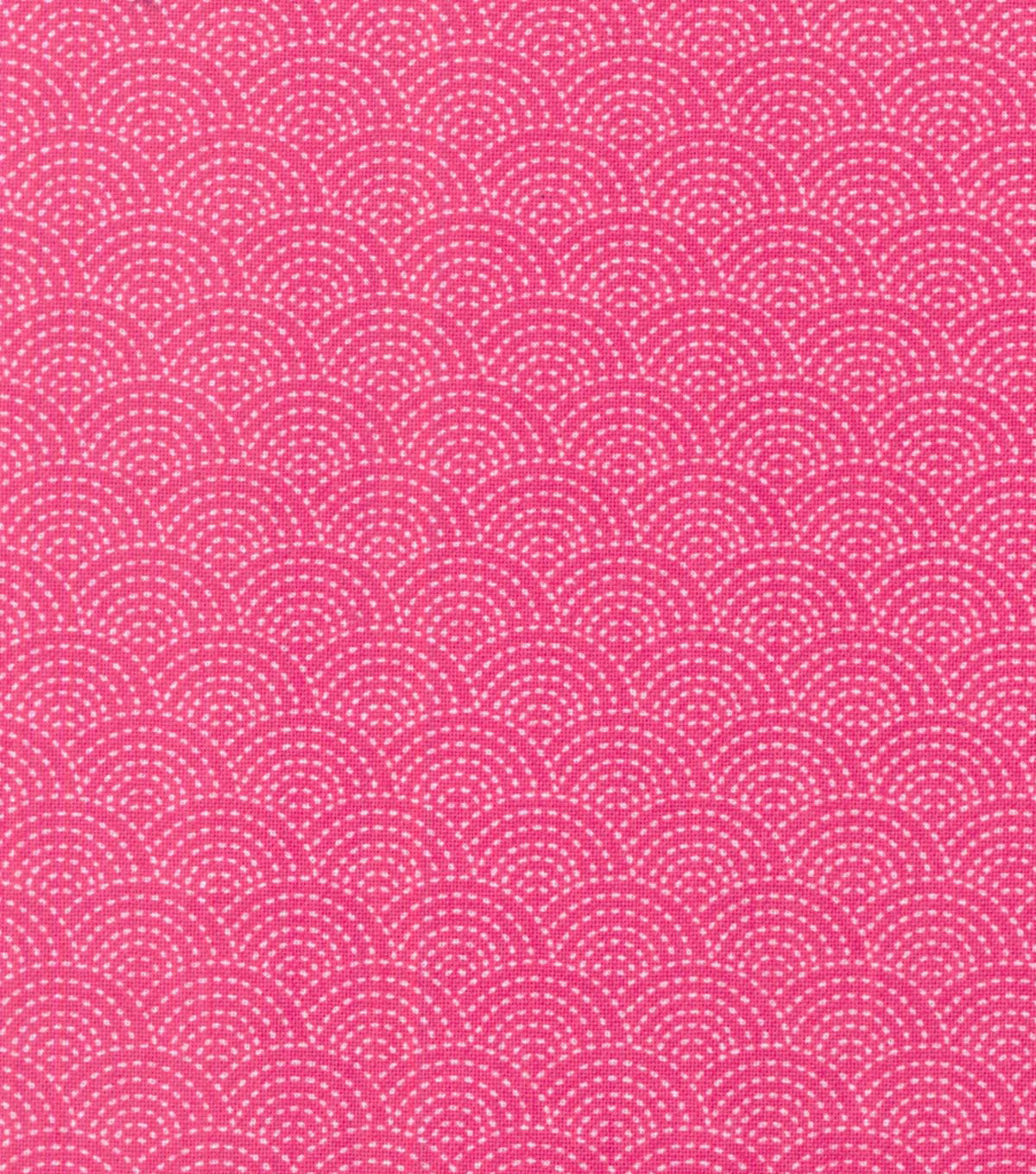 Buttercream™ Olivia Collection Cotton Fabric-Scallop Pink
