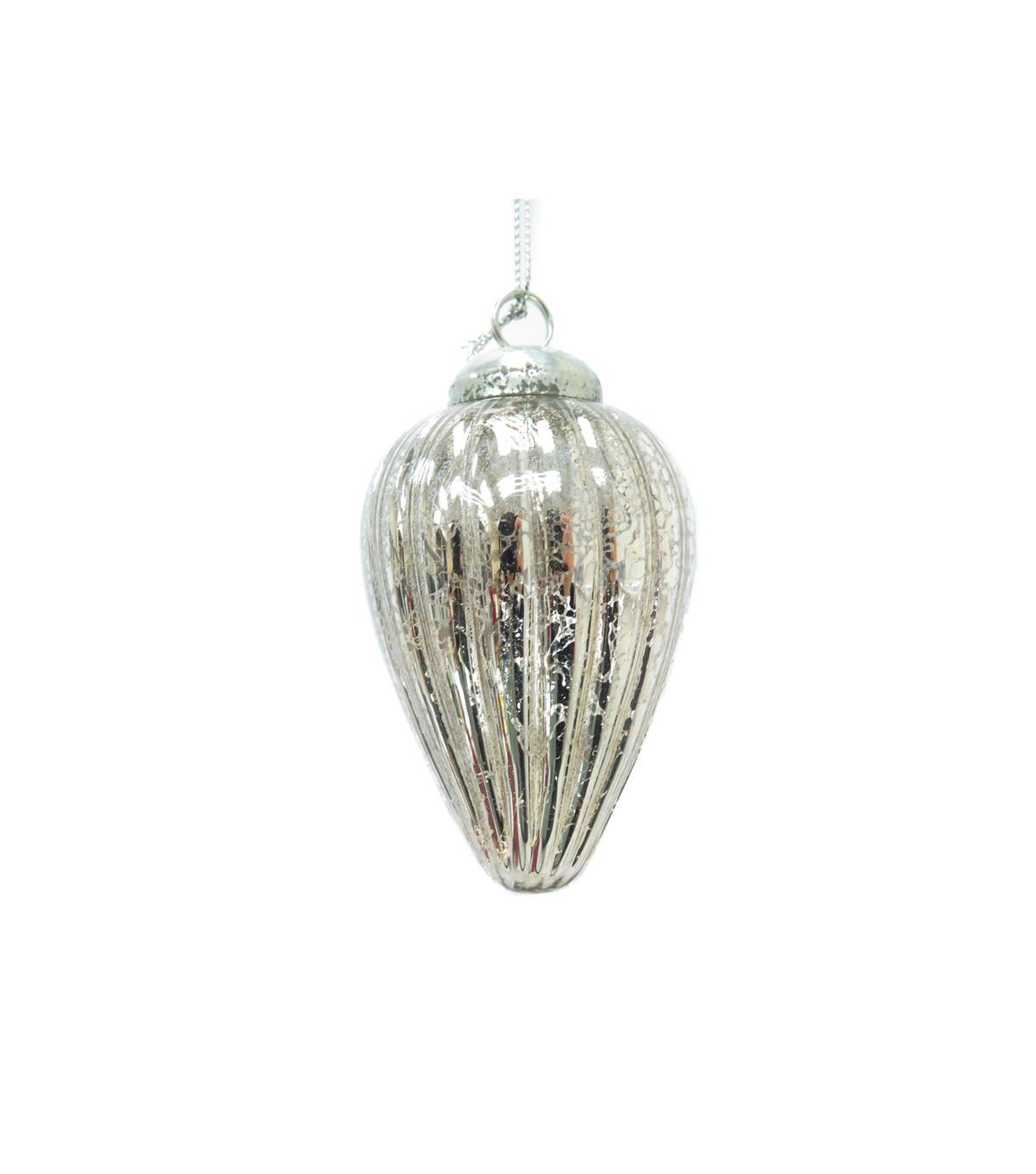 Maker's Holiday Christmas Holiday Charm Small Drop Ornament-Silver