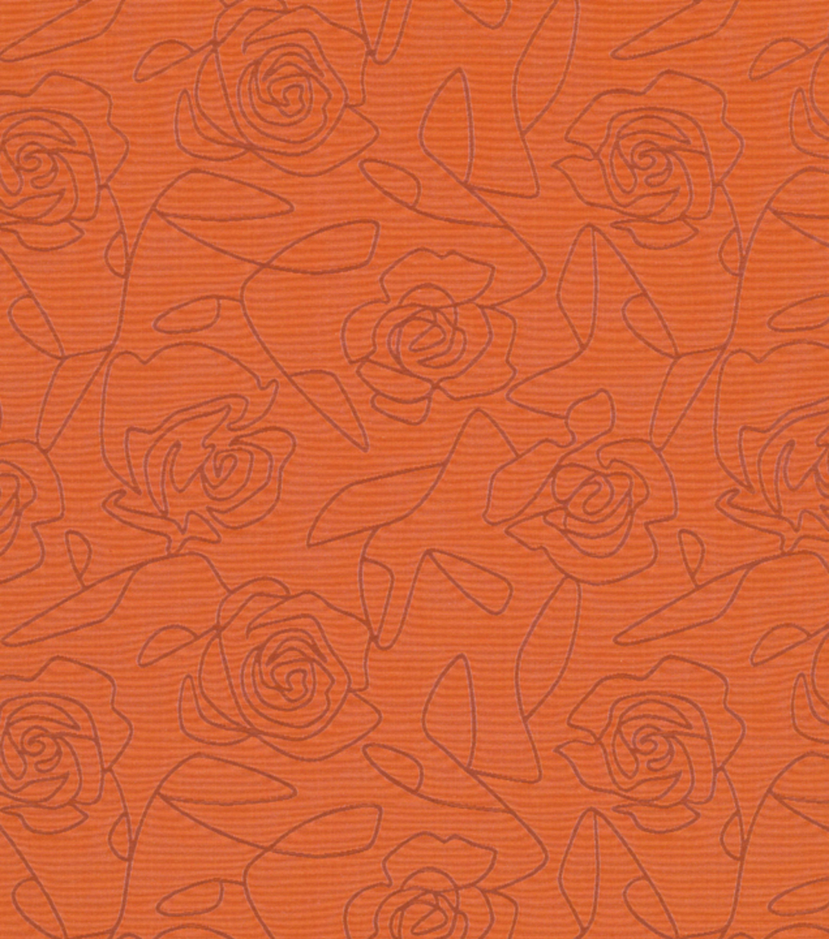 Crypton Upholstery Fabric 54\u0022-Bed Of Roses-Orange