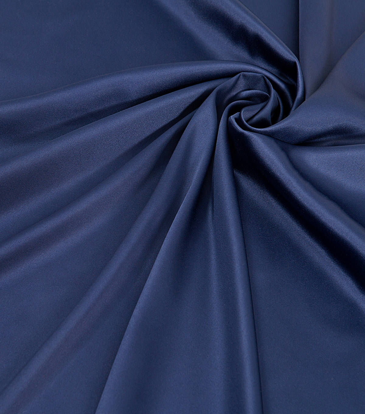 Silky Solid Stretch Fabric 58\u0022-Dark Blue