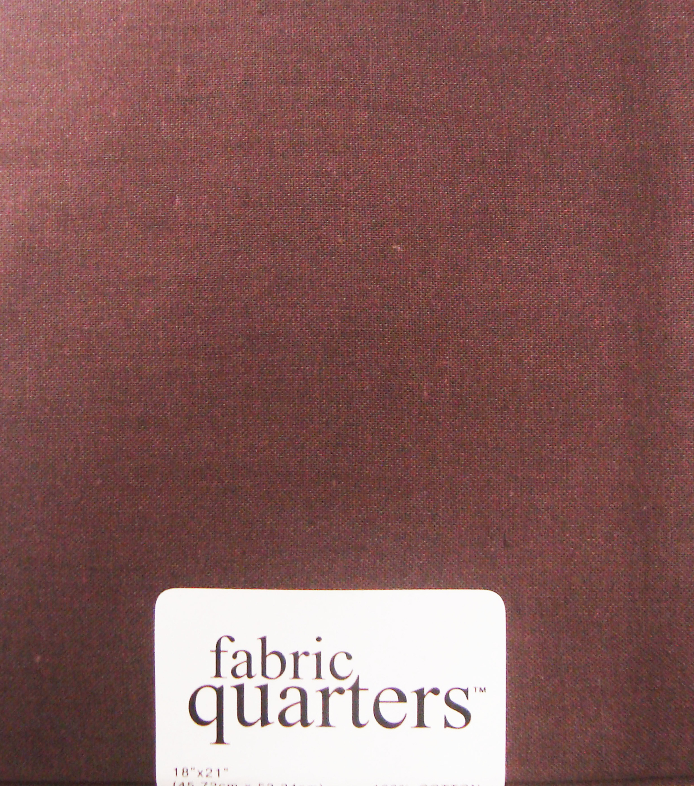 Fabric-Quarters Cotton Fabric-Solids Brown