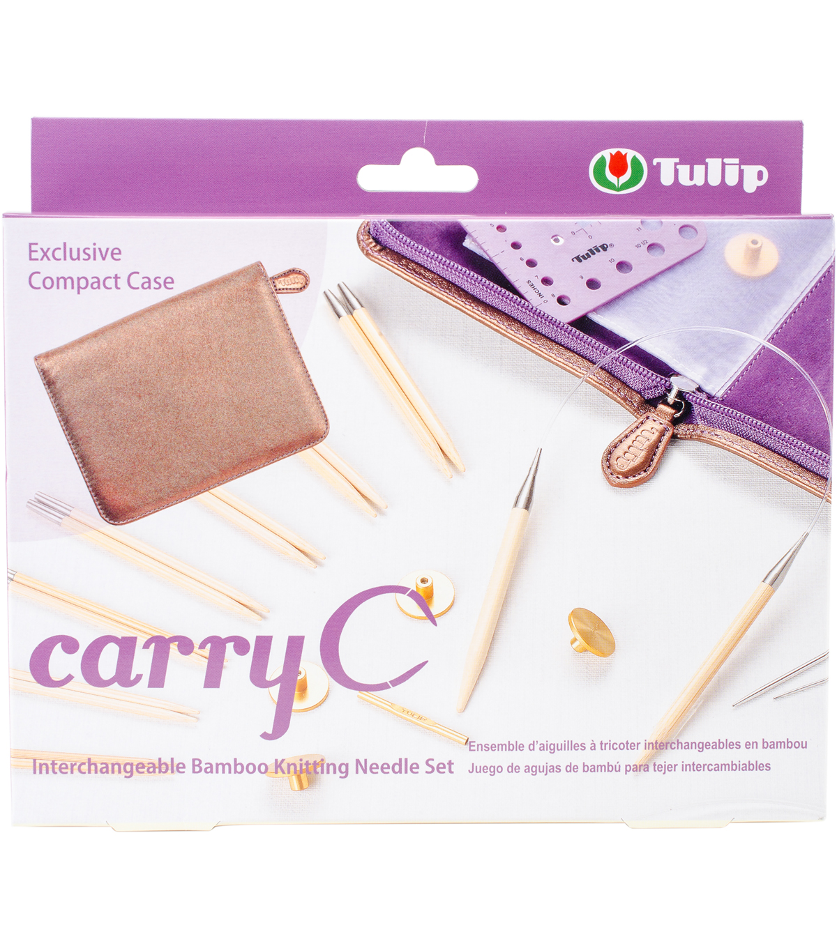 Carry C Interchangeable Bamboo Knitting Needle Set
