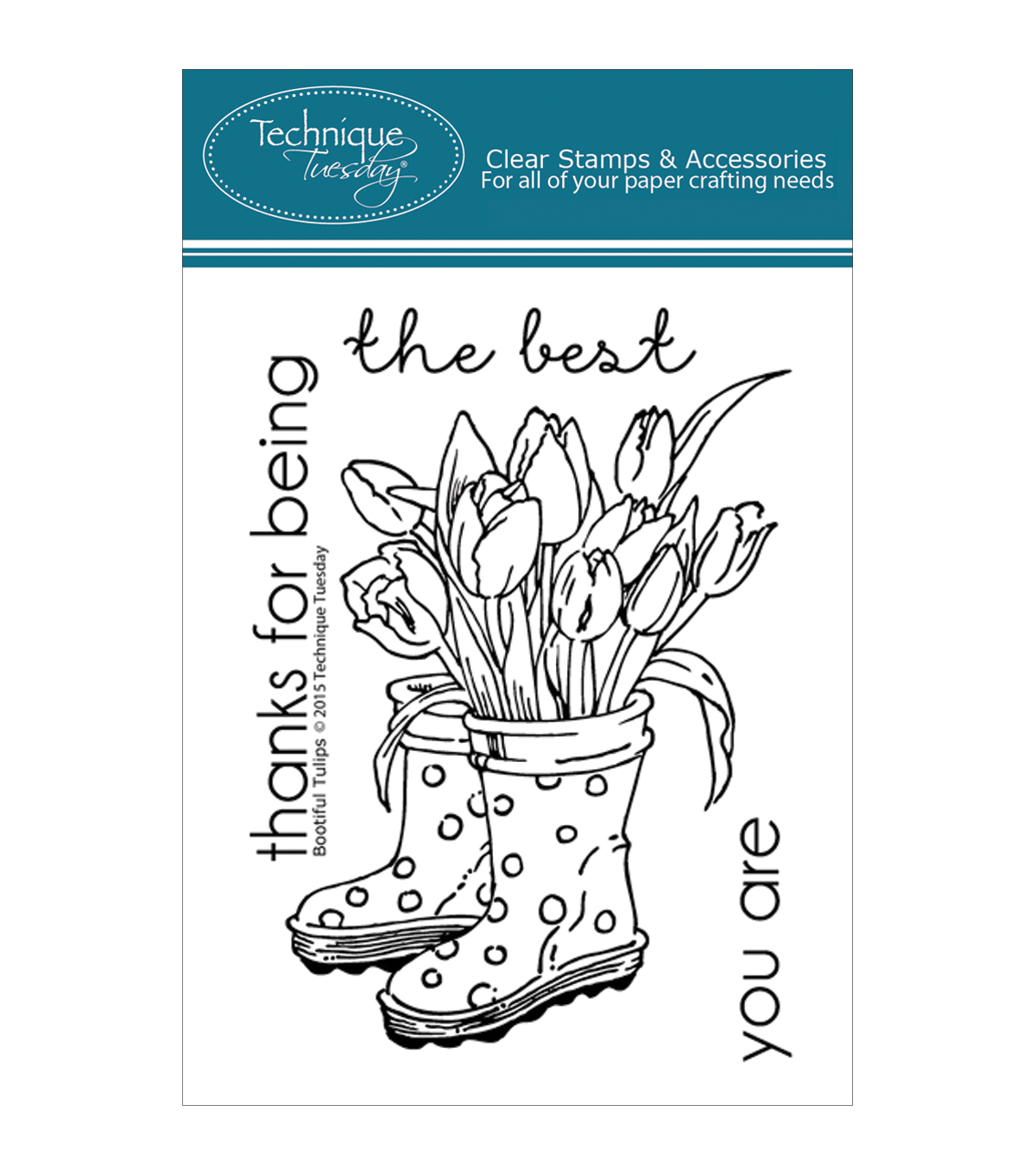 Technique Tuesday Clear Stamps-Bootiful Tulips
