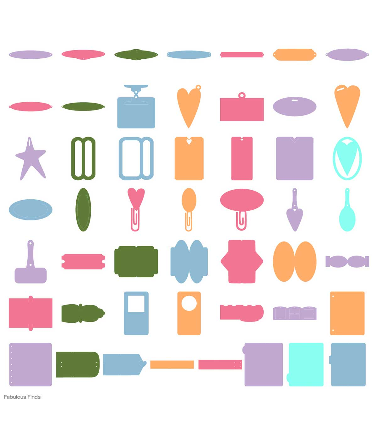 Provo Craft Cricut Shape Cartridge Fabulous Finds