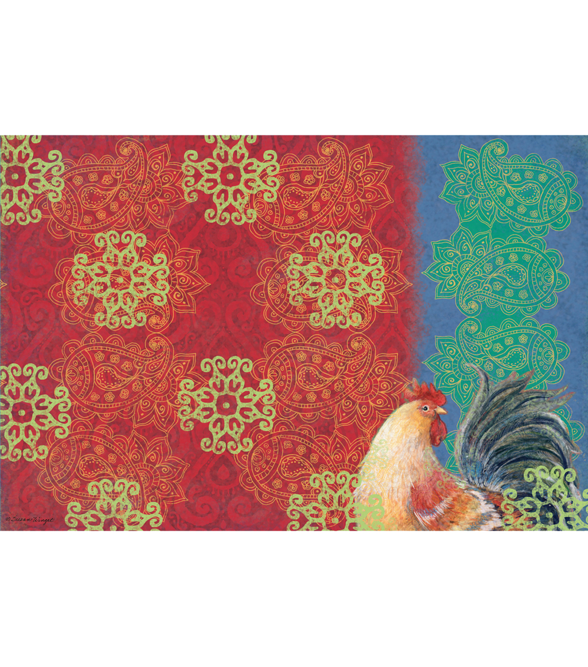 Susan Winget Bohemian Rooster Placemat