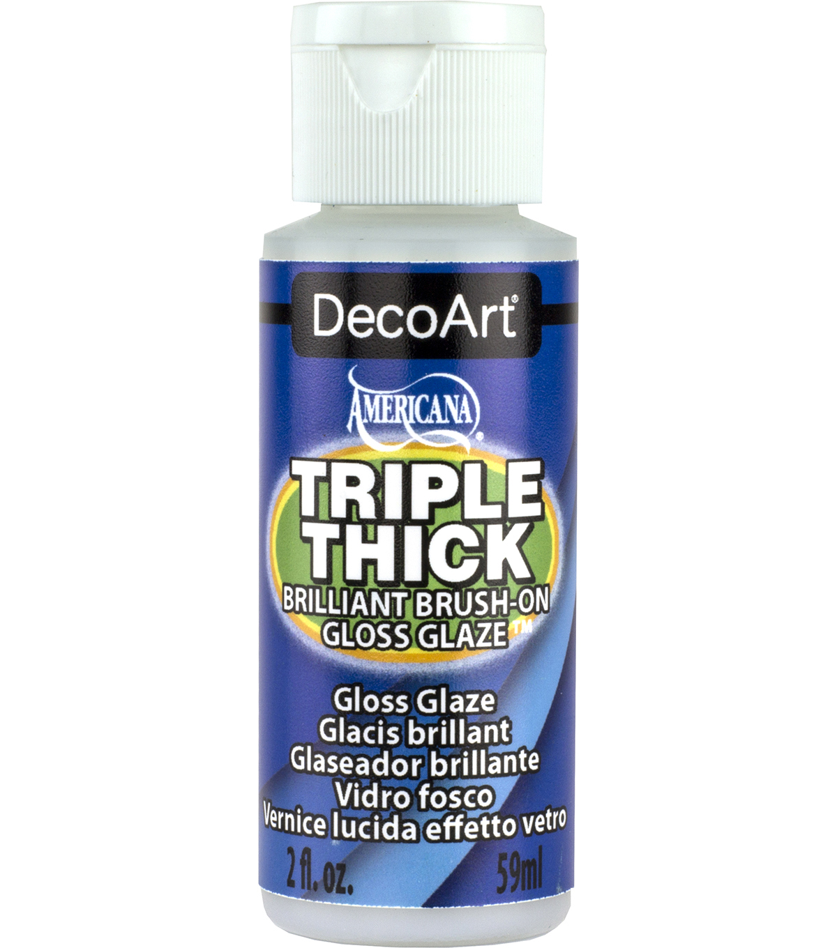 Deco Art Triple Thick Brilliant Brush-On Glaze-2oz./Gloss