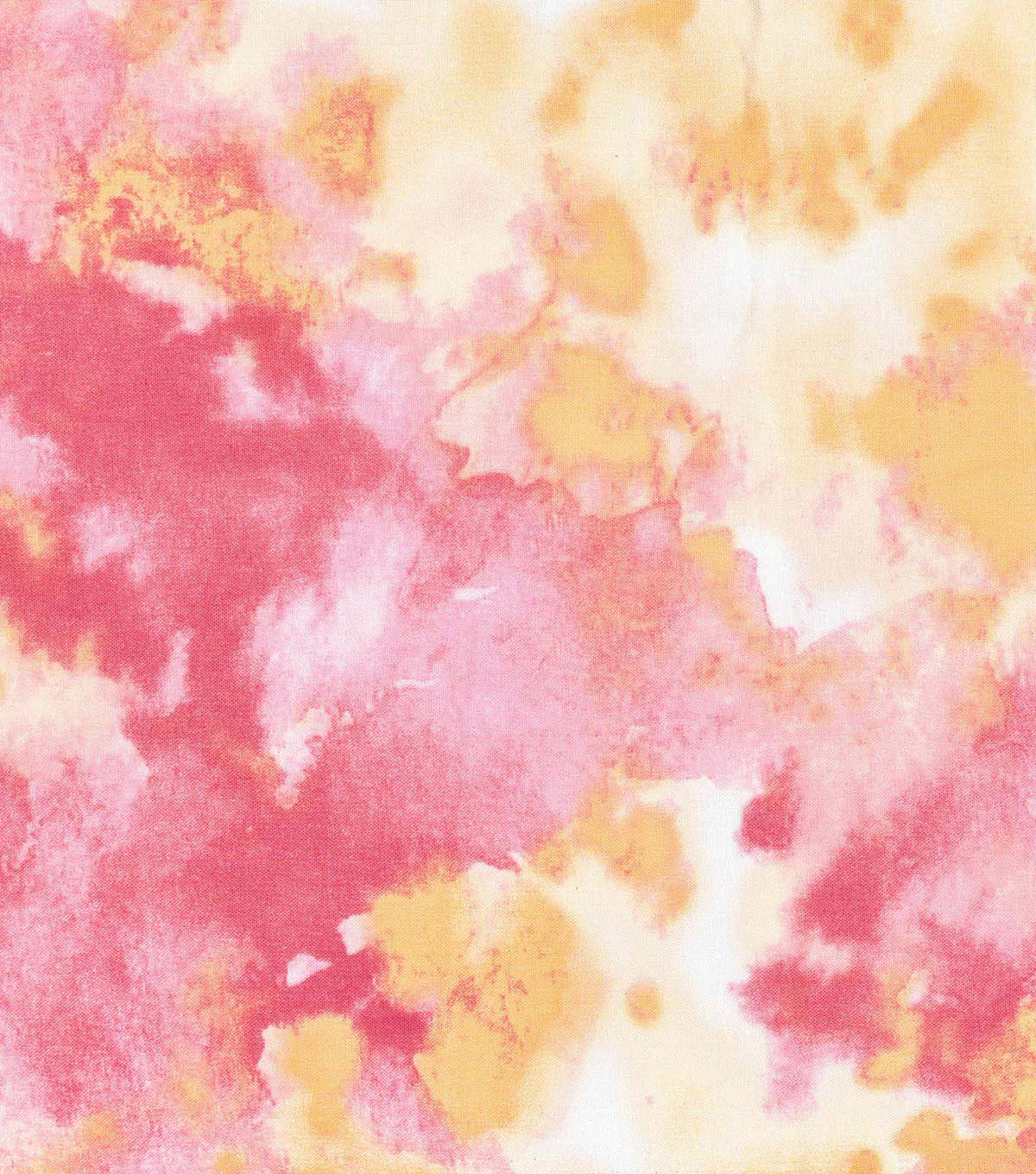 Keepsake Calico™ Cotton Fabric-In The Garden Pink Orange Watercolor