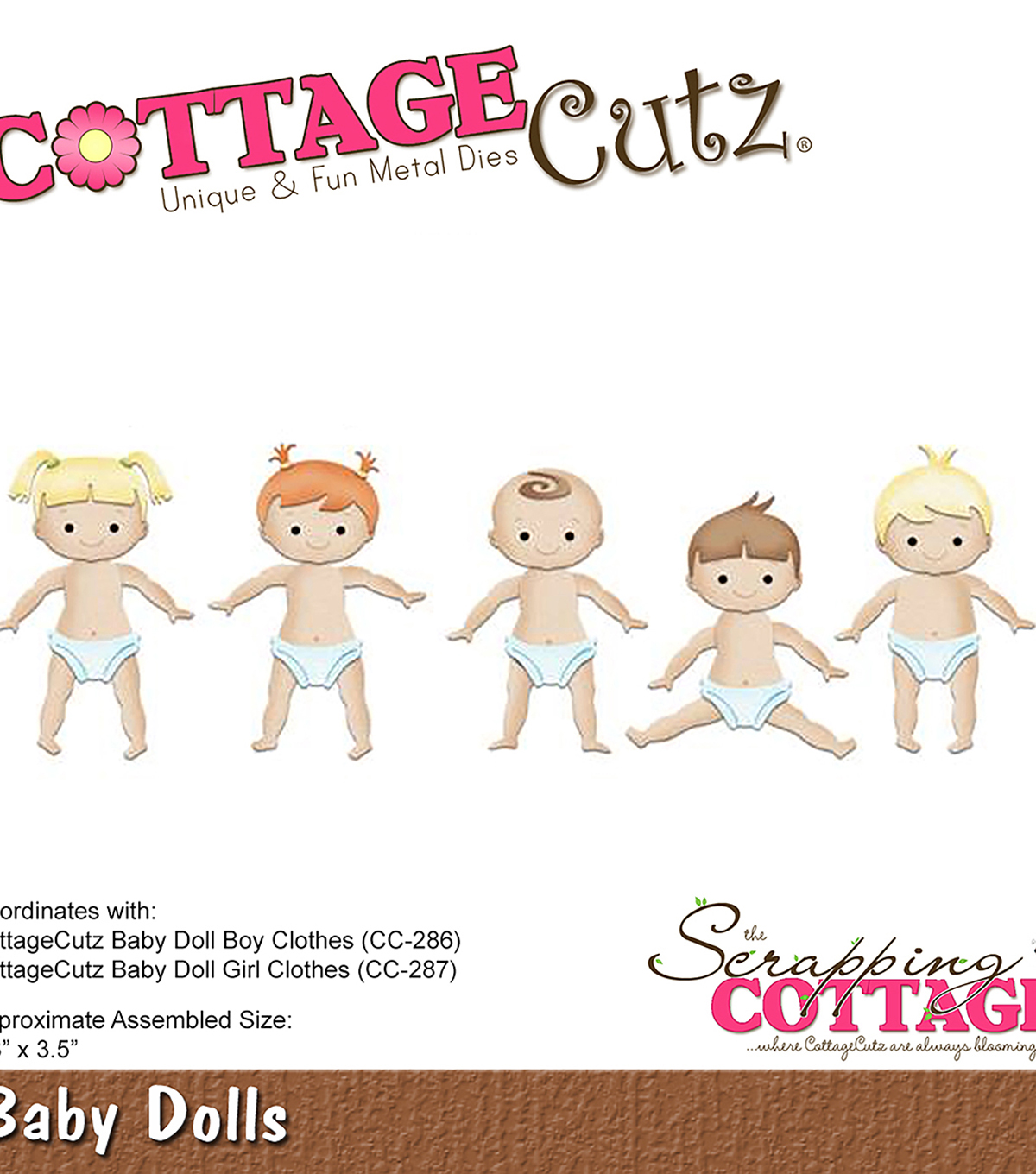 Cottagecutz Die-Baby Dolls 2.3\u0022X3.5\u0022