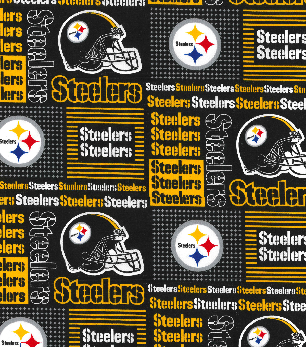 "Pittsburgh Steelers Cotton Fabric 58""-Patch"