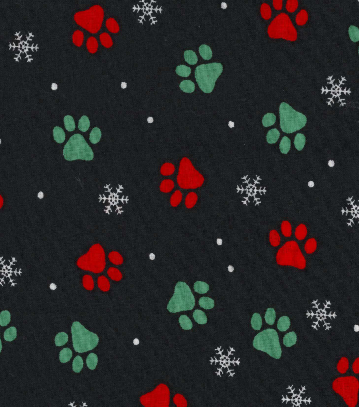 "Christmas Cotton Fabric 43""-Pawprints"