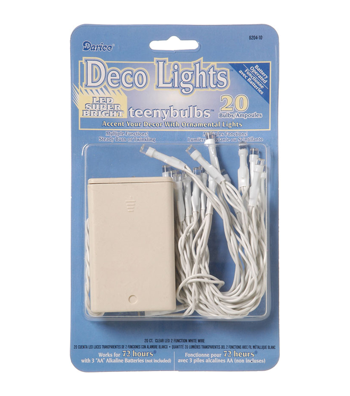 Darice® 20 Ct Battery Operated Deco Lights With Teeny Bulbs-White