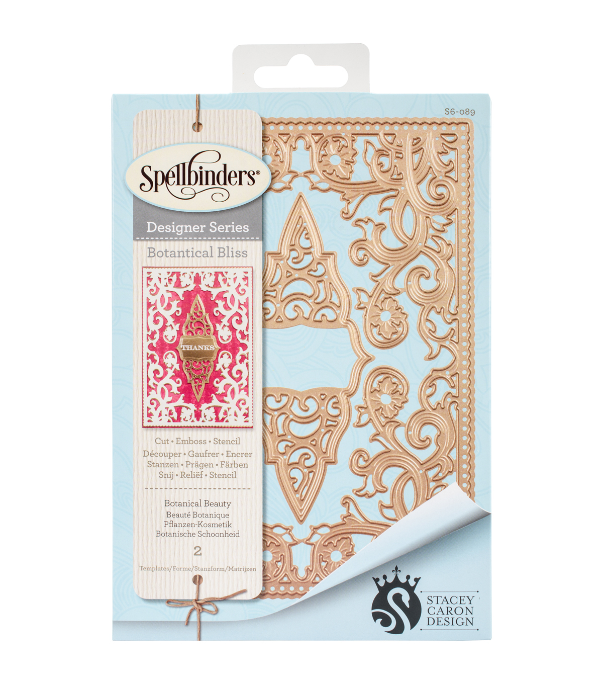 Spellbinders™ Card Creator 2 Pack Etched Dies-Botanical Beauty