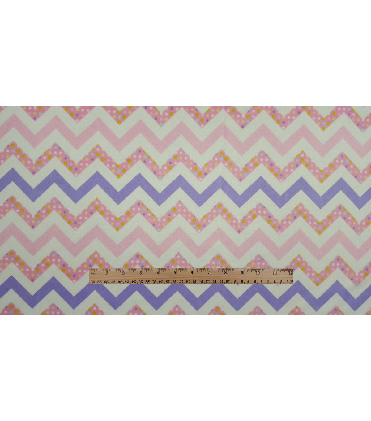Soft N Comfy Fabric 57\u0022-Bright Confetti Chevron
