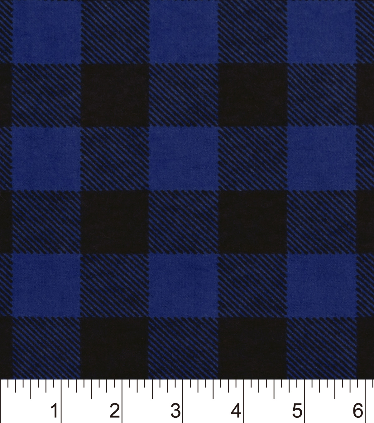 Snuggle Flannel Fabric 42\u0022-Blue Buffalo Check