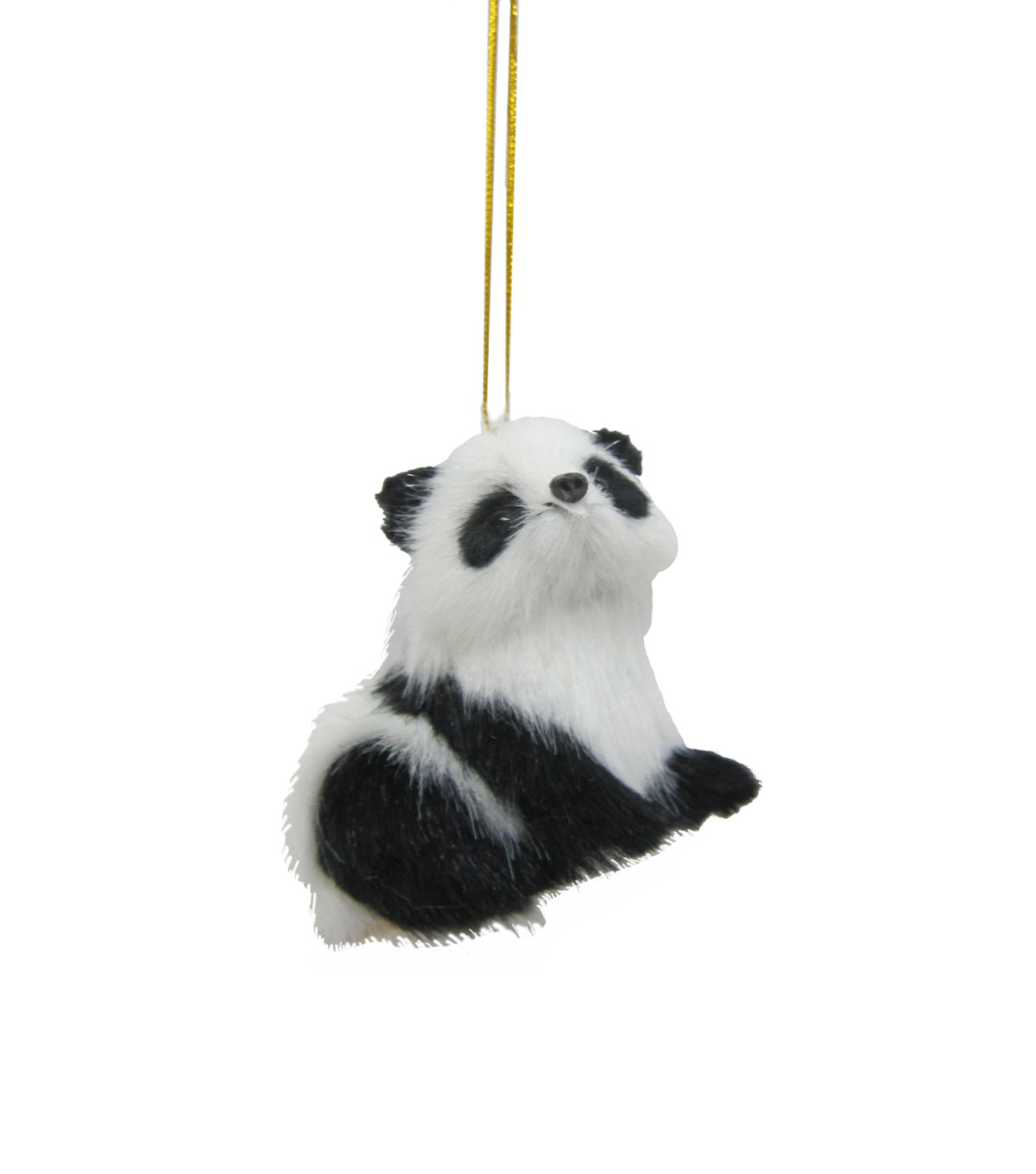 Maker's Holiday Christmas Fur Baby Panda Ornament
