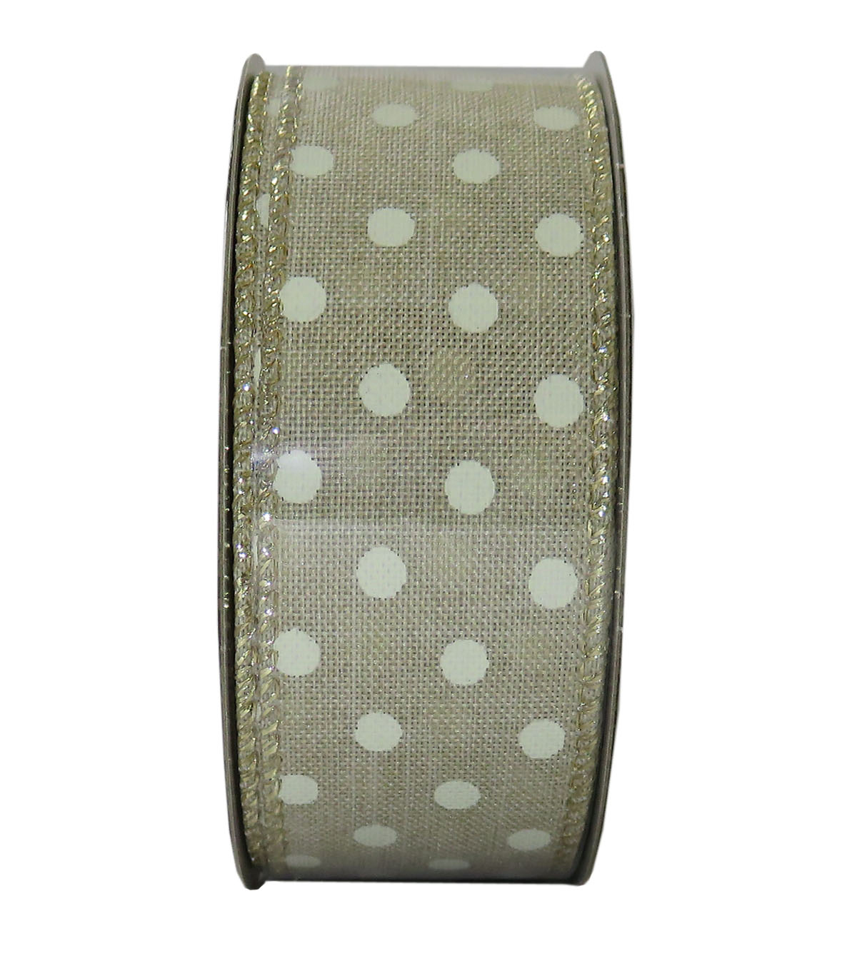 Decorative Ribbon 1.5\u0027\u0027 X 15\u0027-Cream Dot