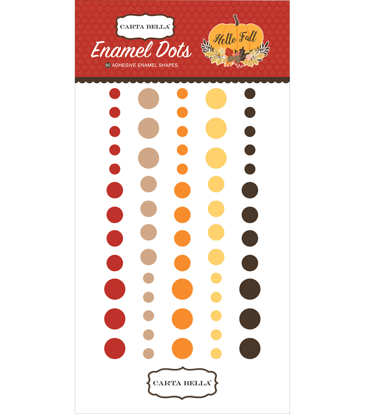 Hello Fall Adhesive Enamel Dots