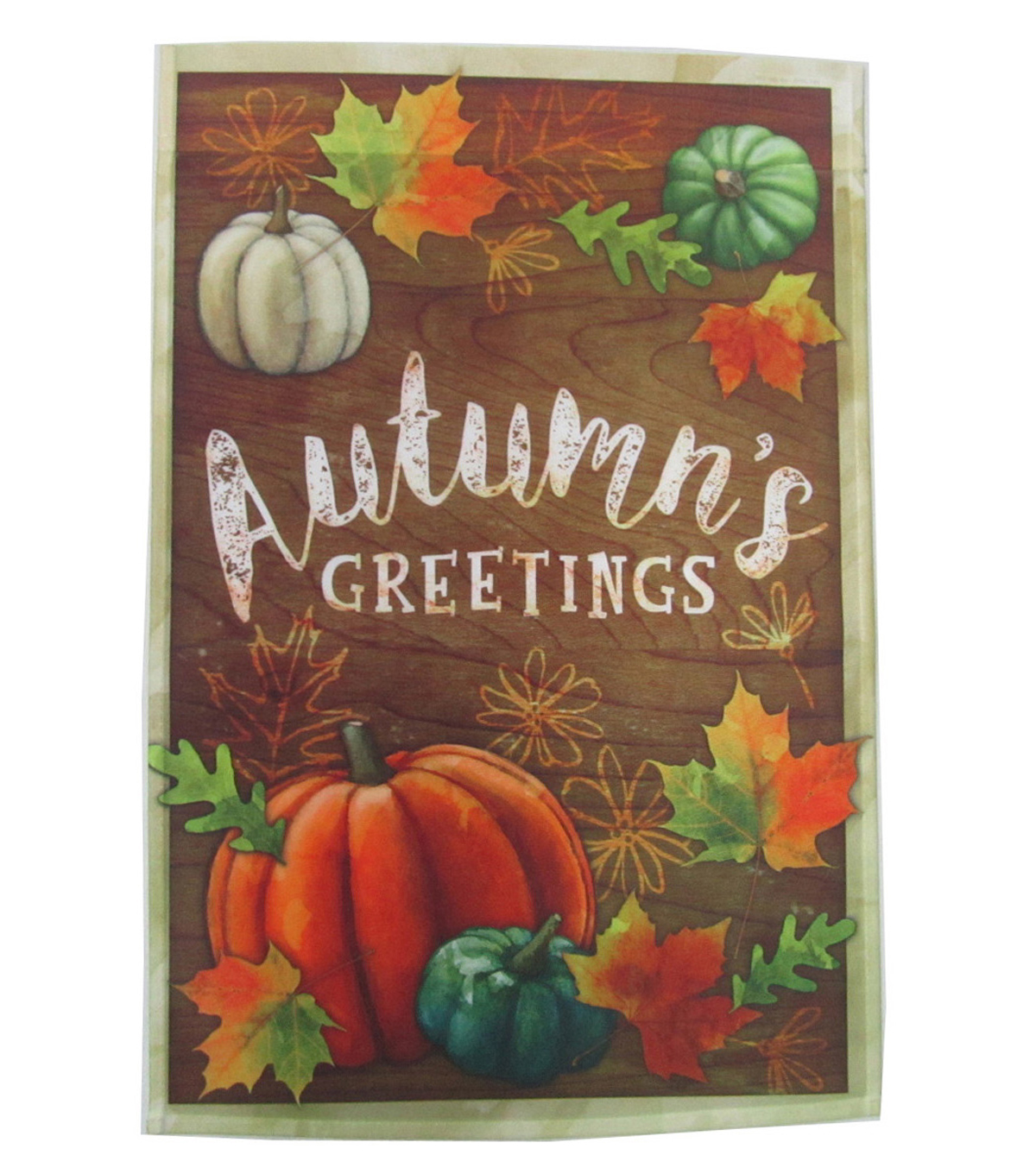 Fall Into Color 12''x18'' Flag-Autumn Greetings