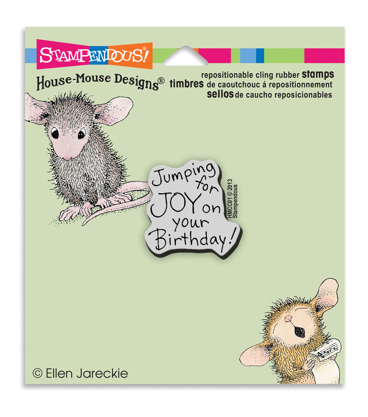 Stampendous House Mouse Cling Rubber Stamp Joy Birthday