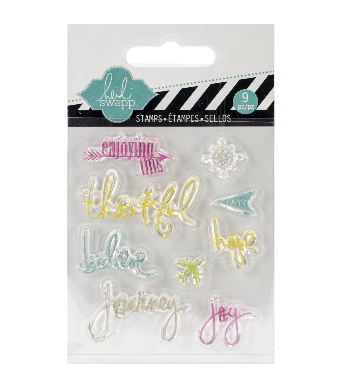 "Heidi Swapp Mixed Media Clear Mini Stamps 3""X3.5""-Journey"