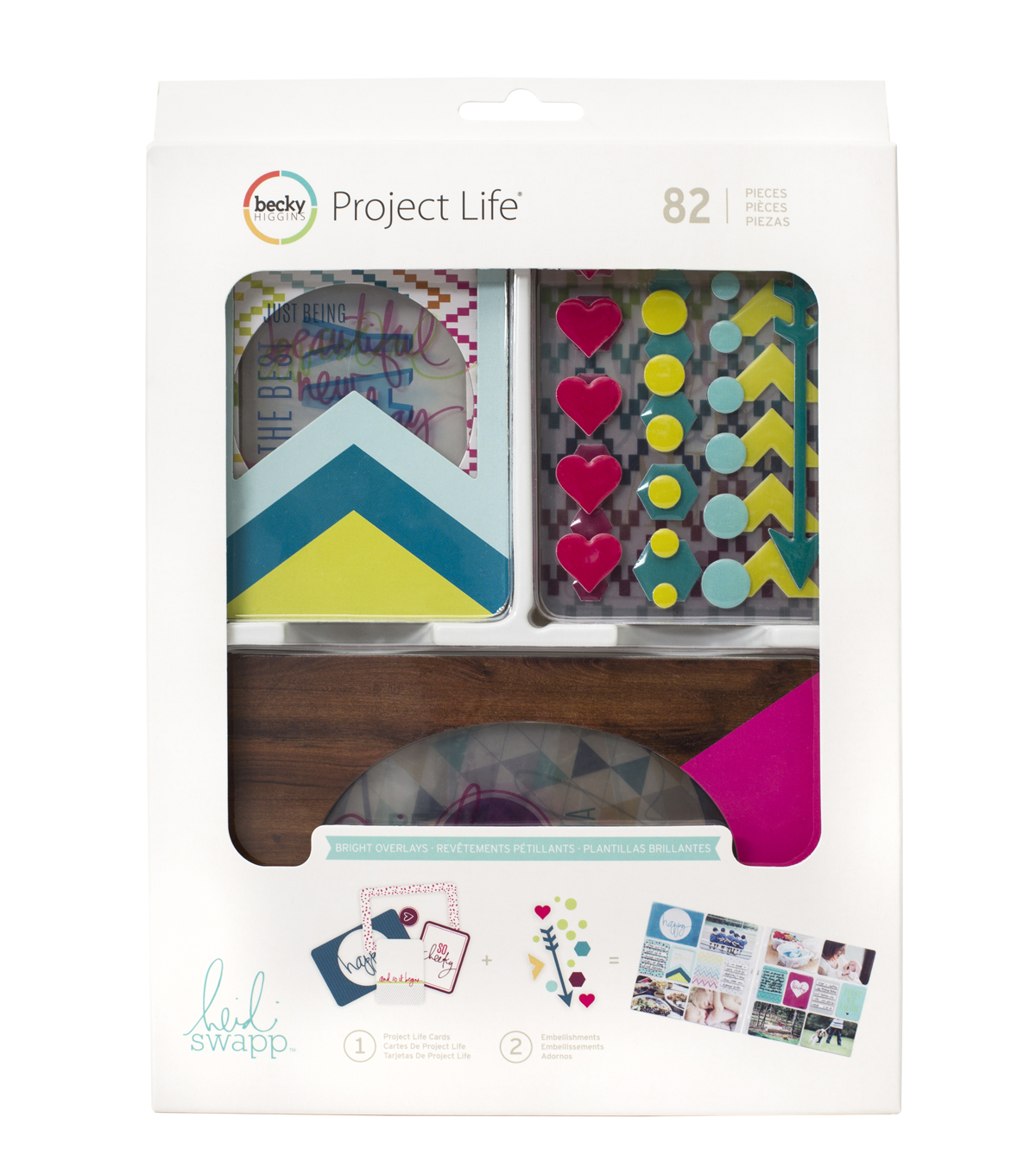 Project Life Heidi Swapp 82 Pack Value Kit-Bright Overlays