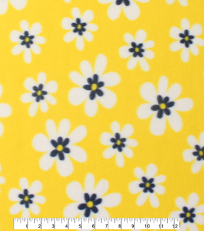 Blizzard Fleece Fabric 59\u0022-Sunny Daisies