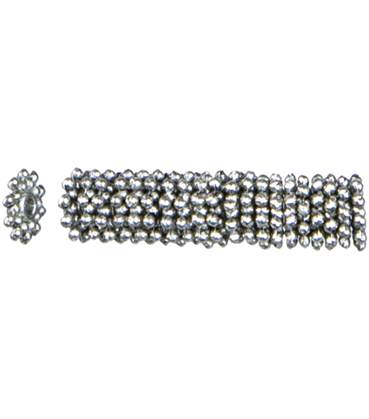Jewelry Basics Metal Beads 8mm 45/Pk-Silver Knob Wheel Spacer
