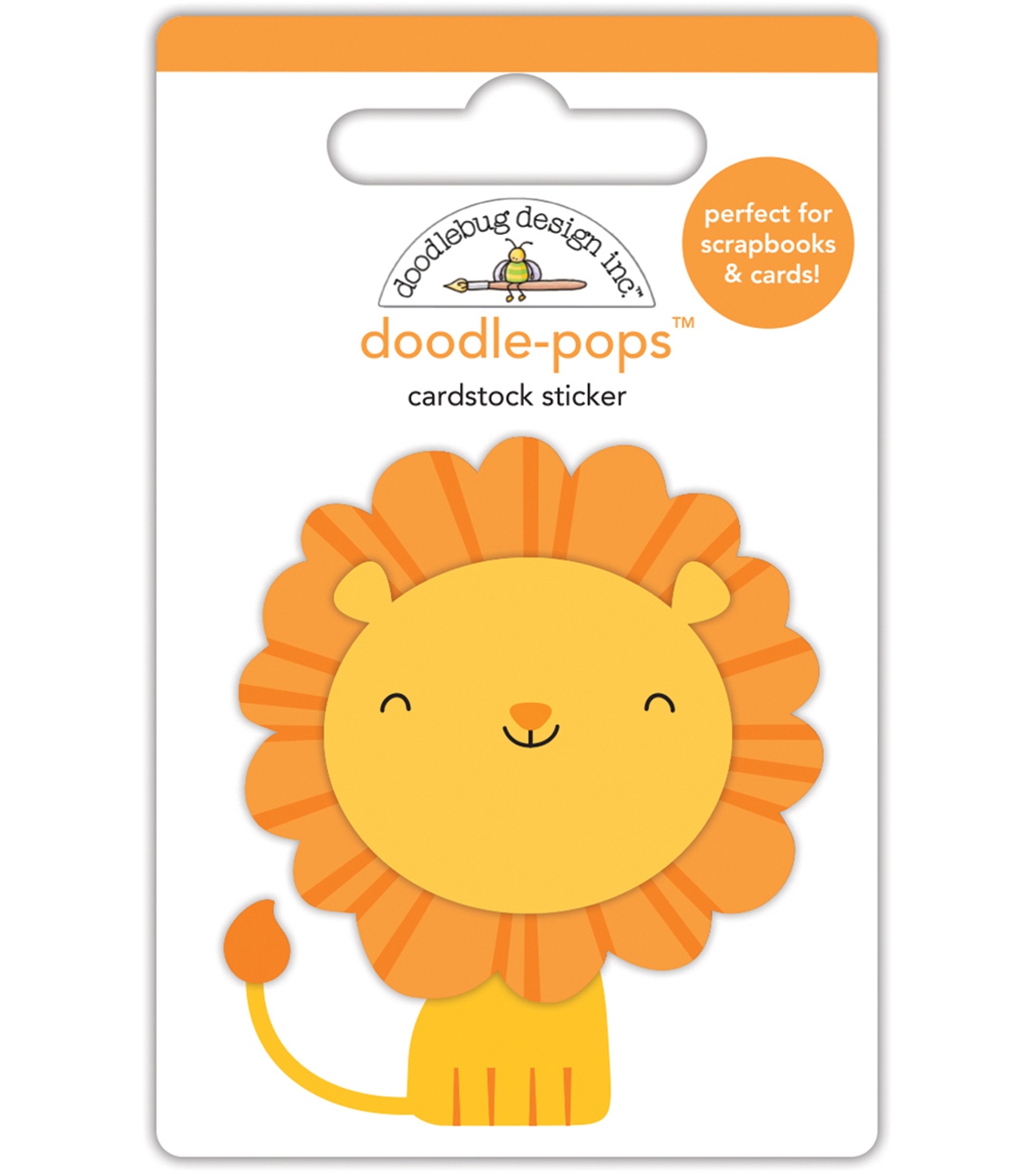 Doodlebug Doodle-Pops 3D Stickers -At The Zoo Leo Lion