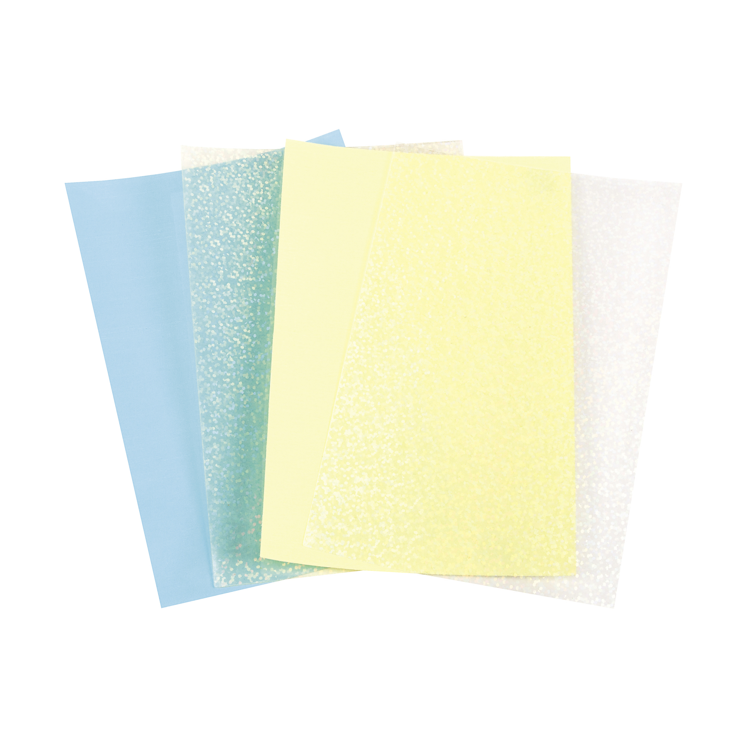 Dream Sequins 4 x 6 Sheets - Cream Blue & Yellow, 4pk