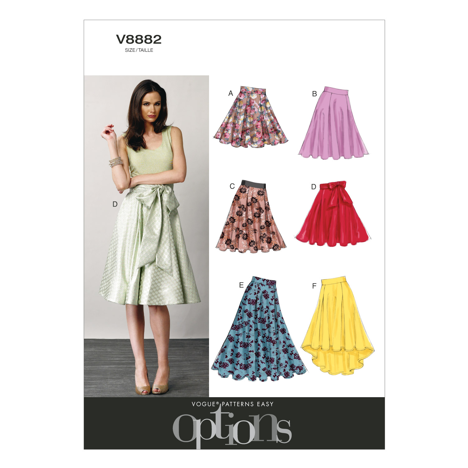 Vogue Patterns Misses Skirt-V8882