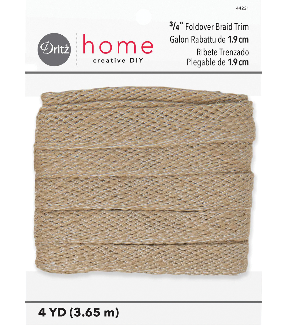 Jute Foldover Natural Trim